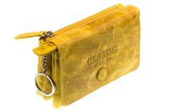 Mini-Portemonnaie  in vintage-sonnengelb Minibörse soft