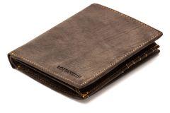 Herren-Geldbörse Kompakt Kreditkartentaschen für 12 Karten aus robustem Rind-Nappa-Echtleder