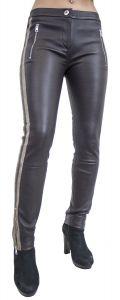 Jeans-Damen-Lederhose- Hana-Stretchleder- Roehren- slimfit- Luxus-Braun-S