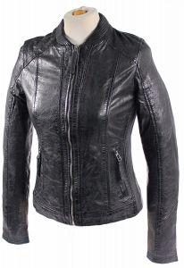 Damen_Lederjacke_Lamm_Nappa_Echtleder-Blouson-washed leather XS-2XL