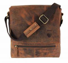 Herren-Tasche Umhängetasche Citytasche Nappa-Echtleder Vintagebraun