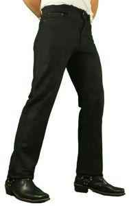 Herren Jeans Lederhose Braun Büffel-Nubuk-Echtleder Classic Jeans W26-W42