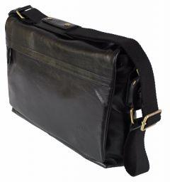 Herren-Tasche Echtleder Businesstasche Laptoptasche Rind-Nappa schwarz