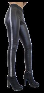 Damenhose-Stretchleder-Luxus-schwarz
