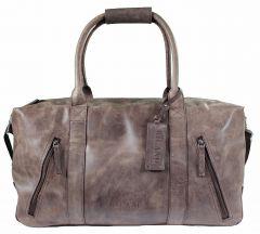 Weekender Duffle Bag Borgo Reise-Tasche Echtes-Leder Braun