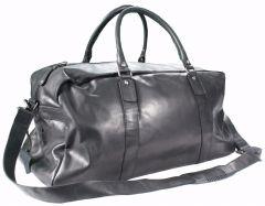 Weekender Duffle Bag CARP Reise Tasche Echt Leder natural Schwarz