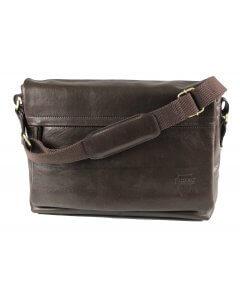 Herren-Aktentasche Umhängetasche Citytasche Nappa-Echtleder schwarz
