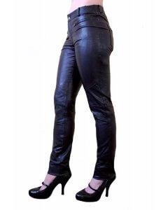 Damen-Lederhose_Tight-Pants_slimfit_Ziegen-Nappa-Echtleder Dalila 2
