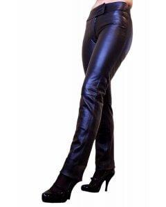Damen-Jeans-Lederhose Pants schwarz slimfit Lamm Nappa Gr. XXS-2XL