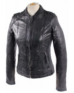 Damen_Lederjacke_Lamm_Nappa_Echtleder-Blouson-washed leather XS-2XL