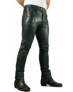 Herren-Jeanshose-Echtleder-slimfit -washed leather-Joseph