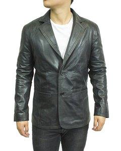 Herren Echt Lederjacke Blazer Sommer slimfit Jacket Anzug Jacke schwarz